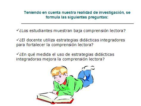 preguntas de investigacion lectoescritura estrategias did 225 cticas para el mejoramiento de la