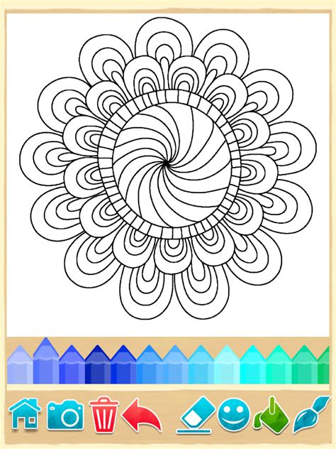 coloring pages app for android mandala coloring pages screenshot