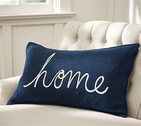 How To Make A Pillow At Home by Home Sentiment Lumbar Pillow Cover Pottery Barn