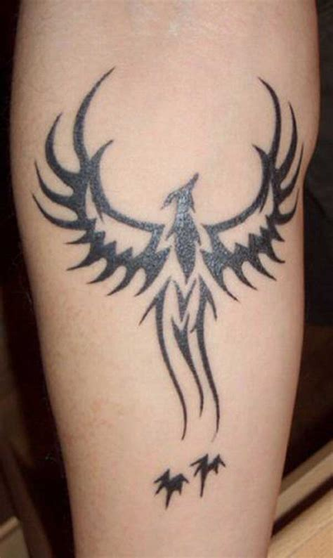 simple phoenix tattoo designs tribal design busbones