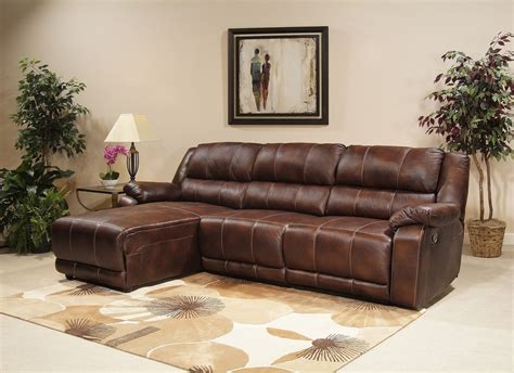 Leather Brown Sectional With Chaise And Recliner Prefab Reclining Sectional Sofa With Chaise