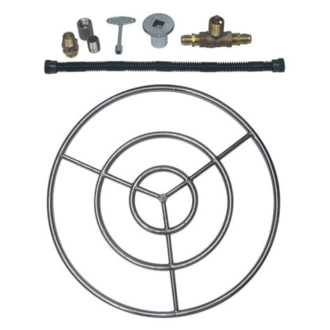 pit burner kits stainless steel pit ring burner kit for propane lp 12 quot 18 quot 24 quot 30 quot new ebay
