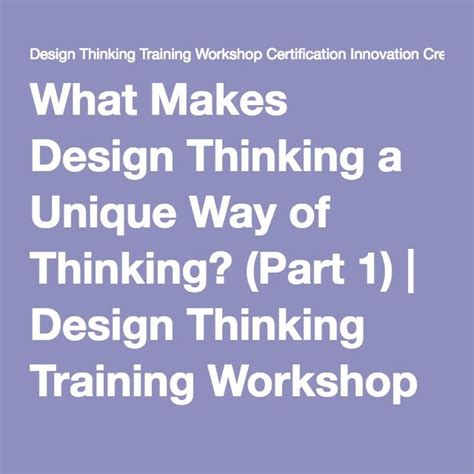 design thinking training yourself to be more creative 18 best design thinking images on pinterest service