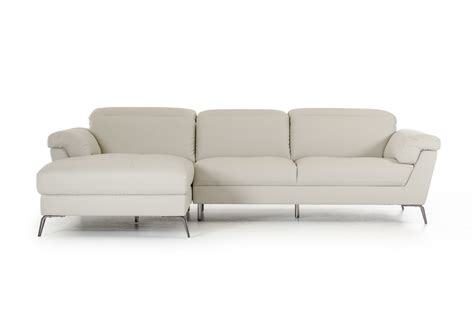 light gray leather sofa divani casa edelweiss modern light grey eco leather