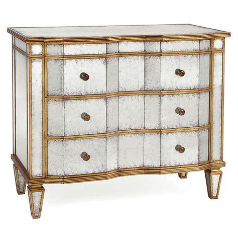 Silver Leaf Dresser by Regency Silver Leaf Mirror Chest Dresser