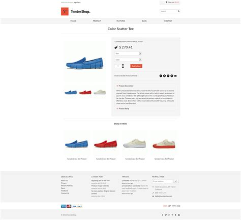 minimal responsive template tendershop minimal responsive ecommerce template on behance