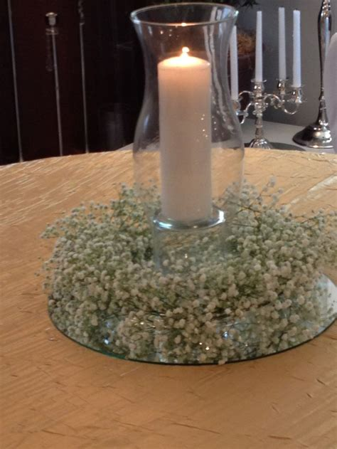 baby s breath wreath centerpiece wedding ideas - Wreath Centerpiece Ideas