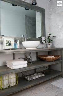 bathroom inspiration open shelf vanity postcards from