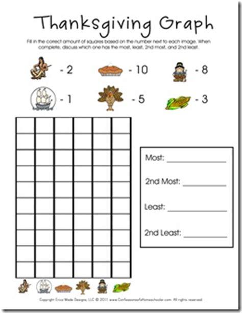 free printable thanksgiving graphs thanksgiving preschool printable pack free