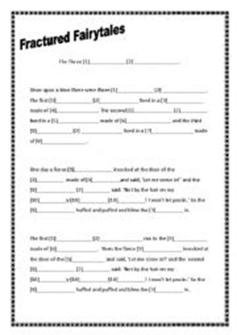 fractured tale worksheet worksheets fractured fairytales three pigs