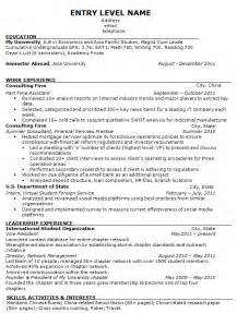 Sle Of Entry Level Resume by Entry Level Health Administration Resume Sales