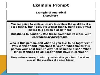 Analytical Expository Essay Exle by 4th Grade Act Aspire Analytical Expository Writing Powerpoint Tpt