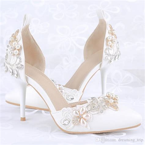 white high heel wedding shoes white pointed toe high heel bridal shoes 2017 silver