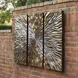 sunburst triptych wall frontgate modern artwork by frontgate