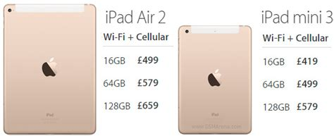 Air 3 64gb three uk will carry the new air 2 and mini 3 gsmarena news