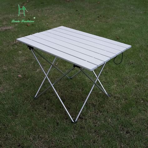 factory outlet portable outdoor aluminum folding table