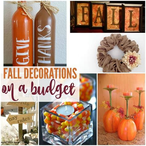 cheap fall decorations fall decorations you can make on a budget