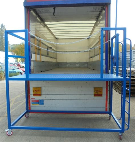 access mobile lorry trailer access mobile unloading platform r8