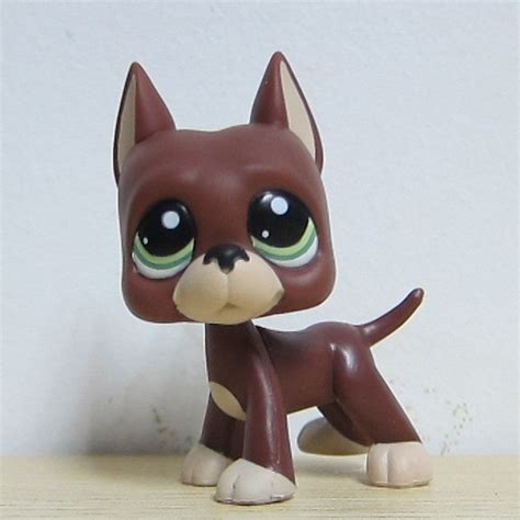 lps puppy littlest pet shop lps 1519 brown and great dane green ebay
