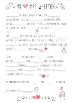 Wedding Mad Libs by Unique Wedding Mad Lib This Is The Mad Lib I Wrote For My