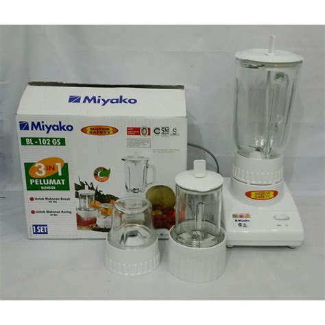 Blender Miyako Bl 102 Gs 3 In 1 miyako bl 102gs putih blender kaca 1 l 3in1 bl102gs