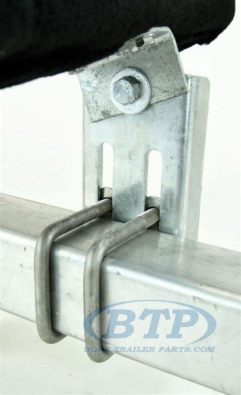 boat lift bunk board brackets boat trailer double u bolt bunk bracket swivel top 12