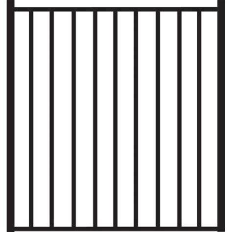 Home Depot Beechmont by Veranda Beechmont Standard Duty 4 Ft W X 4 Ft H Black Aluminum Pre Assembled Fence