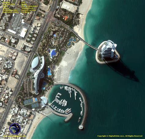imagenes satelitales y fotografias aereas diferencias vista a 233 rea del hotel burj al arab