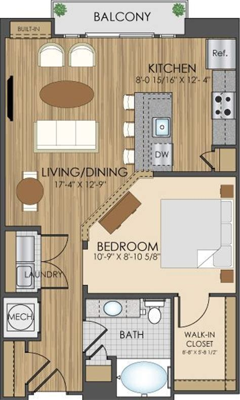One Bedroom Apartment Designs Exle 1000 Ideas About Small Apartment Plans On Pinterest Apartment Plans Small Apartments And