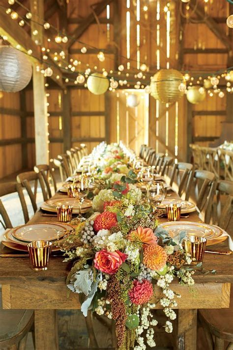 Table Wedding Decorations 30 Barn Wedding Reception Table Decoration Ideas Receptions Wedding And Tables
