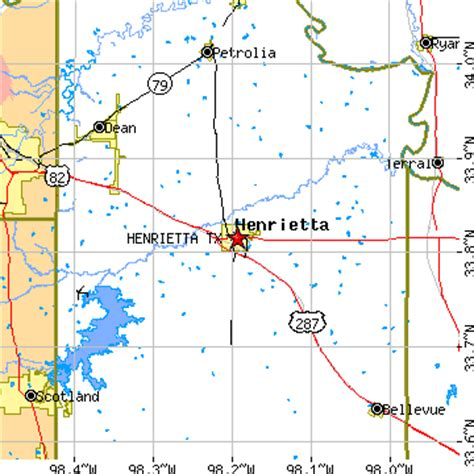 henrietta texas map henrietta texas tx population data races housing economy