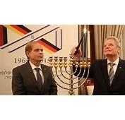 Israeli Ambassador To Germany Yakov Hadas Handelsman Watches As German