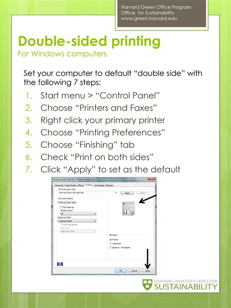how to print a two sided document using microsoft word or double sided printing for windows computers