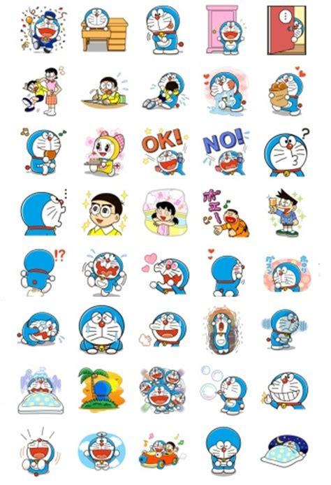 Sticker Set Doraemon By Paupery japan stickers telegram
