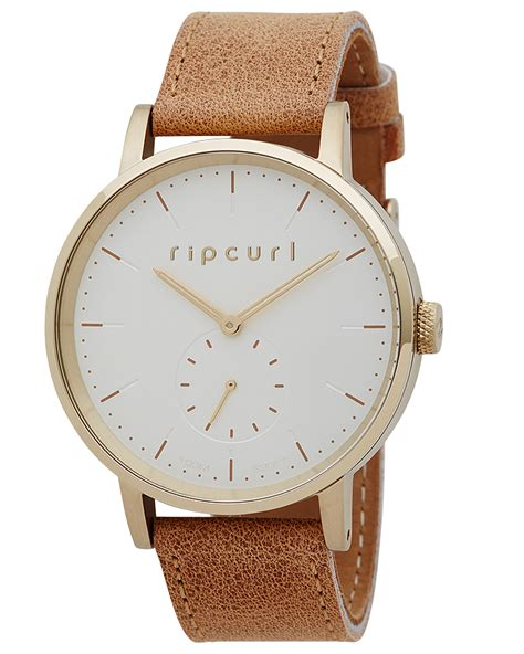 Rip Curl Stainless Black Gold new rip curl s circa gold leather stainless steel waterproof yellow ebay