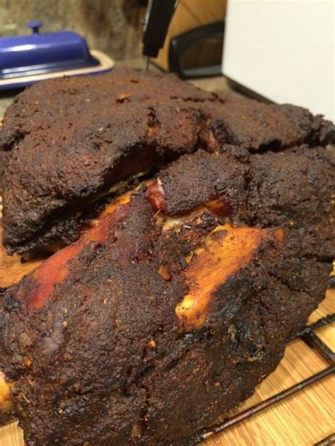 smoked pork shoulder with orange and cinnamon kevin is