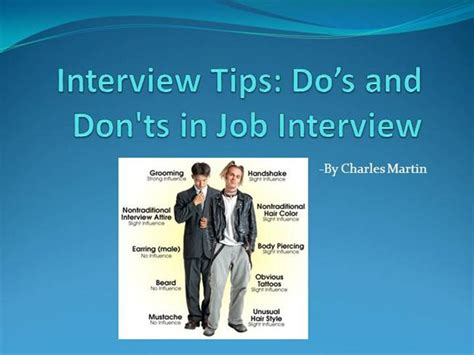 presentation templates for job interview interview tips do s and don ts in interview authorstream