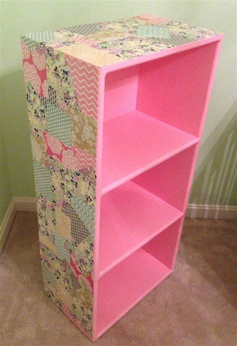 bolt bookcase to wall a little bolt of life diy decoupage bookcase decoration