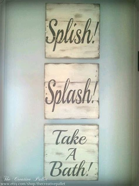 Decorative Bathroom Signs Home by Bathroom Sign Vintage Pallet Wood Signs By Thecreativepallet 60 00 Home Decor