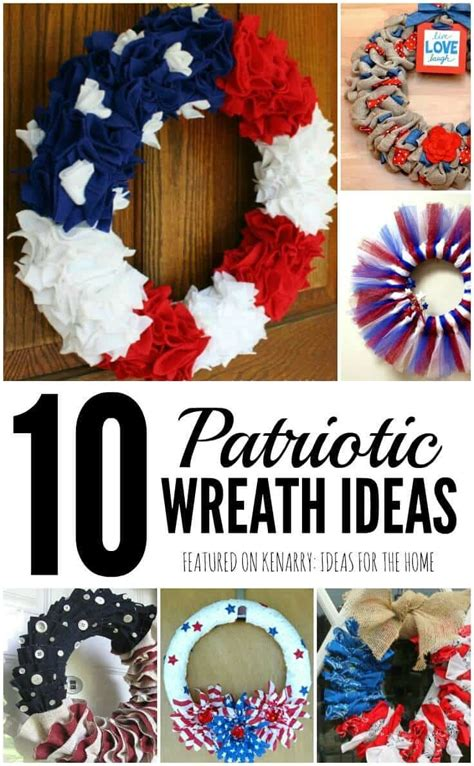 Patriotic Decorations For Home 4th Of July Wreaths 10 Patriotic Ideas For Door Decor