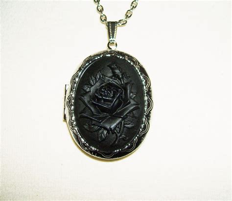 lockets for jewelry black cameo necklace locket pendant