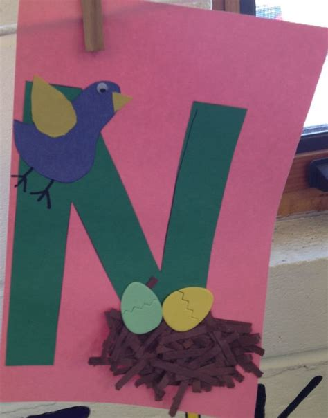 printable alphabet crafts letter n crafts preschool and kindergarten