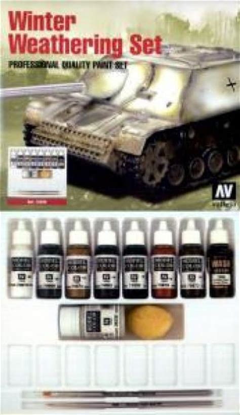 vallejo paints 17ml bottle winter weathering pro model
