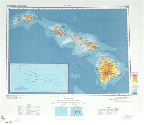 usa map with hawaii large detailed topographical map of hawaii state usa