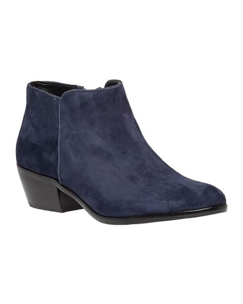 sam edelman petty suede ankle boots in blue navy suede