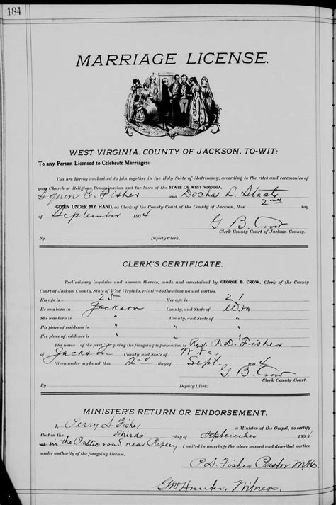 Jackson County Marriage License Records West Virginia Cemetery Preservation Association Fairplain