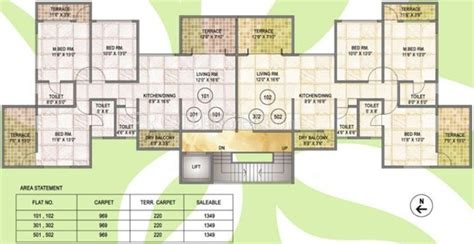 emerald park floor plan 1329 sq ft 3 bhk 3t apartment for sale in amit enterprises