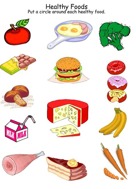 healthy foods worksheet homeschool helper websites i
