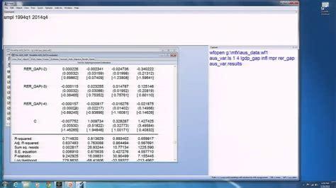 eviews tutorial vector autoregression module 5 session 3 estimating a vector autoregression