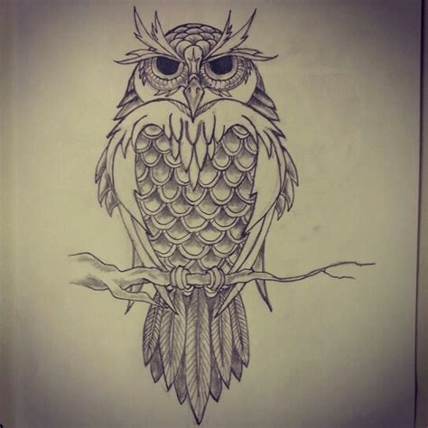tattoo owl sketch pinterest the world s catalog of ideas